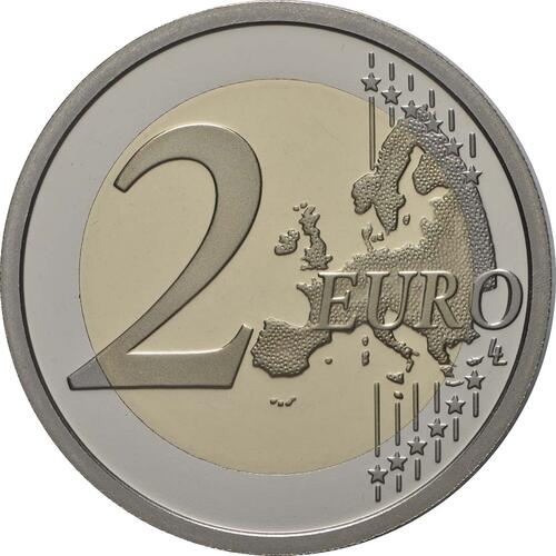 Vorderseite:Vatikan : 2 Euro 90. Jahrestag der Gründung des Staates Vatikanstadt  2019 PP