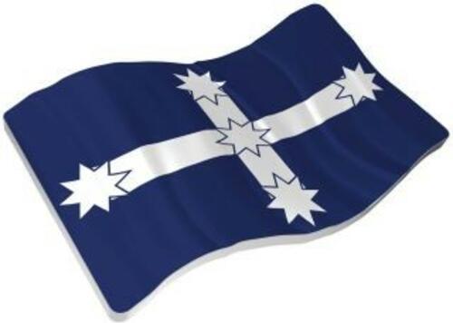 Lieferumfang:Niue : 2 Dollar Eureka Stockade Flagge - Rebellion von 1854  2019 Stgl.
