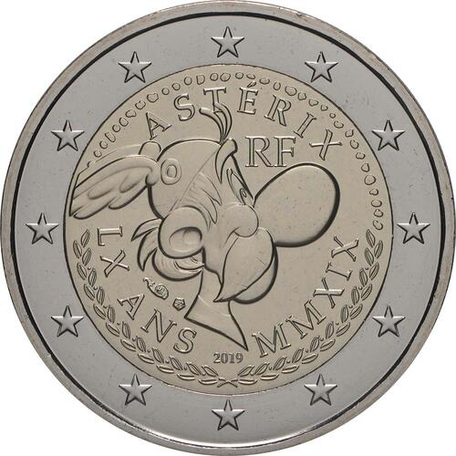 Rückseite:Frankreich : 2 Euro Asterix  2019 bfr