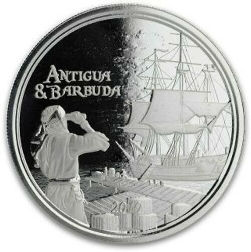 Lieferumfang:Antigua und Barbuda : 2 Dollar Rum Runner (Schmuggler-Schiff)  2019 Stgl.
