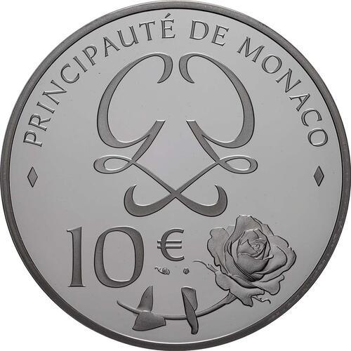Rückseite:Monaco : 10 Euro Grace Kelly  2019 PP