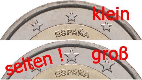 Zertifikat:Spanien : 2 Euro 10 Jahre Euro - Variante große Sterne  2009 bfr