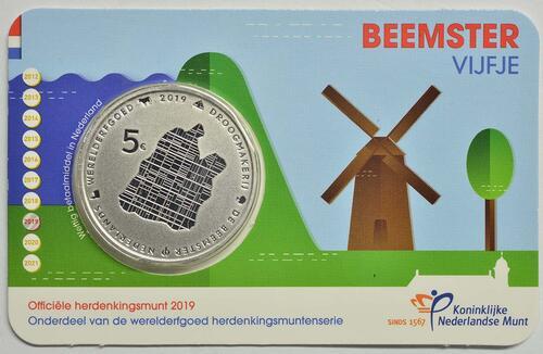 Lieferumfang:Niederlande : 5 Euro Beemster  2019 Stgl.
