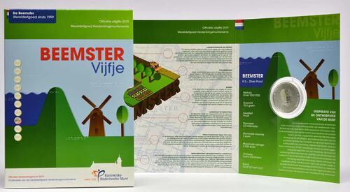 Lieferumfang:Niederlande : 5 Euro Beemster  2019 PP
