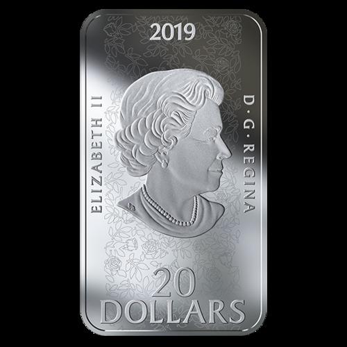 Rückseite:Kanada : 20 Dollar Dornröschen (Sleeping Beauty/Ballett) -farbig -  rechteckig  2019 PP