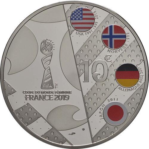 Rückseite:Frankreich : 10 Euro Torwart  2019 PP