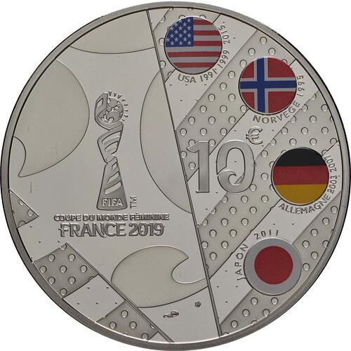 Rückseite:Frankreich : 10 Euro Volley  2019 PP