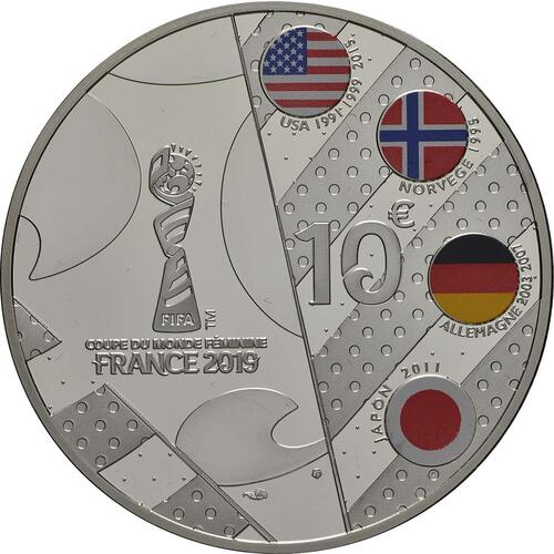 Rückseite:Frankreich : 10 Euro Dribbling  2019 PP