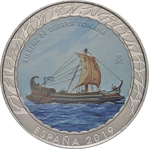 Vorderseite:Spanien : 1,5 Euro Römische Bireme #14  2019 bfr