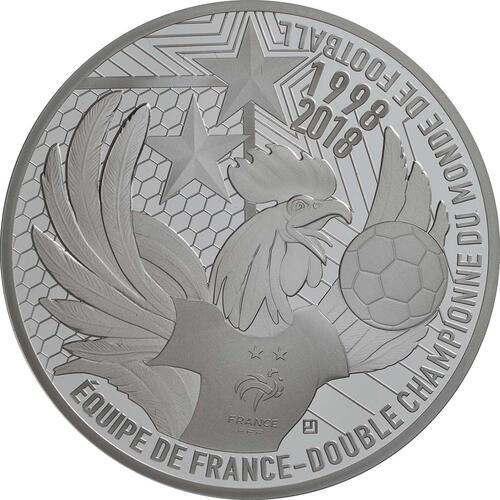 Vorderseite:Frankreich : 10 Euro Fußballweltmeister Frankreich  2018 PP