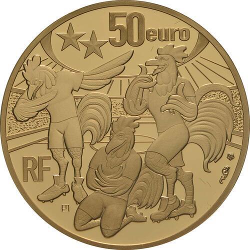 Rückseite:Frankreich : 50 Euro Fußballweltmeister Frankreich  2018 PP