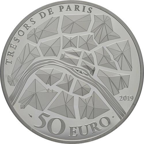 Rückseite:Frankreich : 50 Euro Eiffelturm  2019 PP