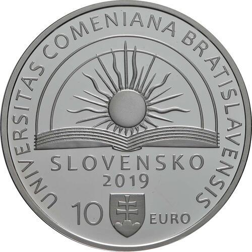 Rückseite:Slowakei : 10 Euro Komenskeho Universität in Bratislava  2019 PP