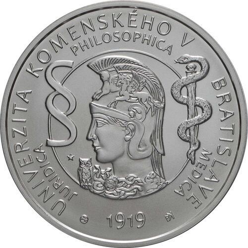 Vorderseite:Slowakei : 10 Euro Komenskeho Universität in Bratislava  2019 Stgl.