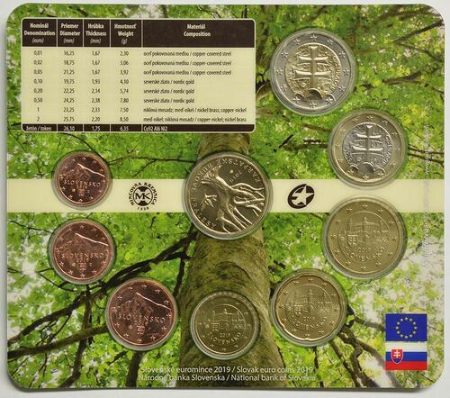 Rückseite:Slowakei : 3,88 Euro KMS UNESCO-Buchenwälder i. d. Karpaten  2019 Stgl.