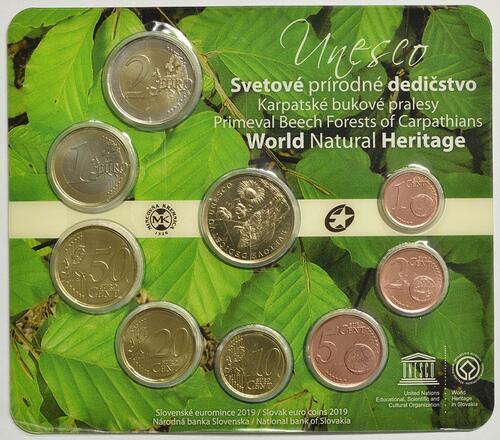 Vorderseite:Slowakei : 3,88 Euro KMS UNESCO-Buchenwälder i. d. Karpaten  2019 Stgl.