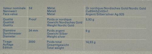 Zertifikat:Luxemburg : 5 Euro Haubentaucher  2019 PP