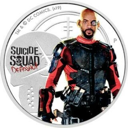 Vorderseite:Tuvalu : 1 Dollar Suicide Squad - Deadshot 1 oz  2019 PP