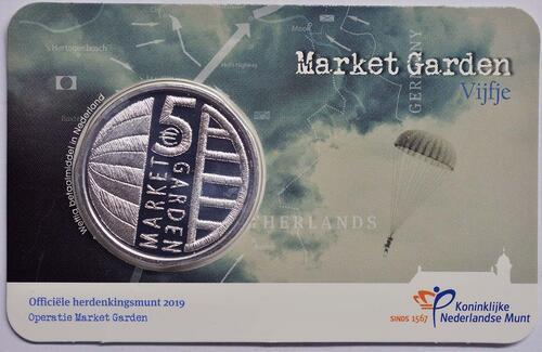 Lieferumfang:Niederlande : 5 Euro 75 Jahre Market Garden  2019 bfr