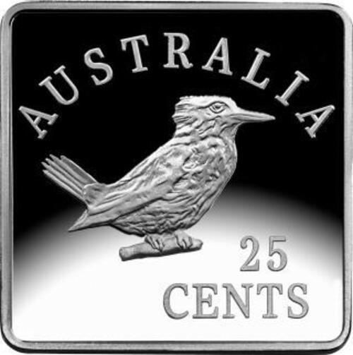 Rückseite:Australien : 3x 25 Kookaburra Motive - Set   3x 1/4 oz  2019 PP