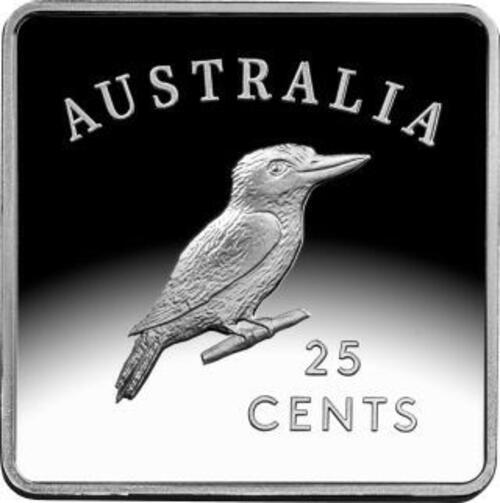 Vorderseite:Australien : 3x 25 Kookaburra Motive - Set   3x 1/4 oz  2019 PP