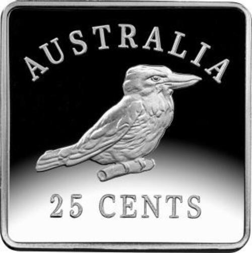 Zertifikat:Australien : 3x 25 Kookaburra Motive - Set   3x 1/4 oz  2019 PP