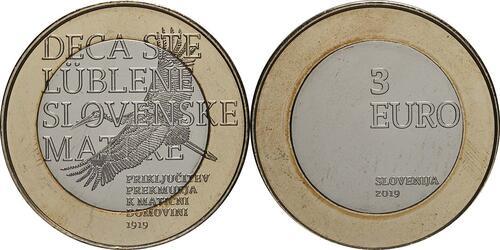 Lieferumfang:Slowenien : 3 Euro 100 J. Wiedereingliederung von Prekmurje  2019 Stgl.