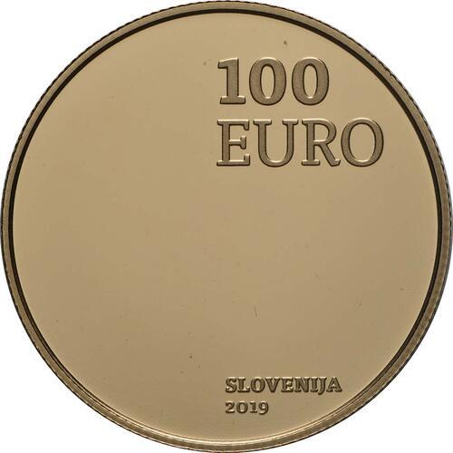 Rückseite:Slowenien : 100 Euro 100 J. Wiedereingliederung von Prekmurje  2019 PP