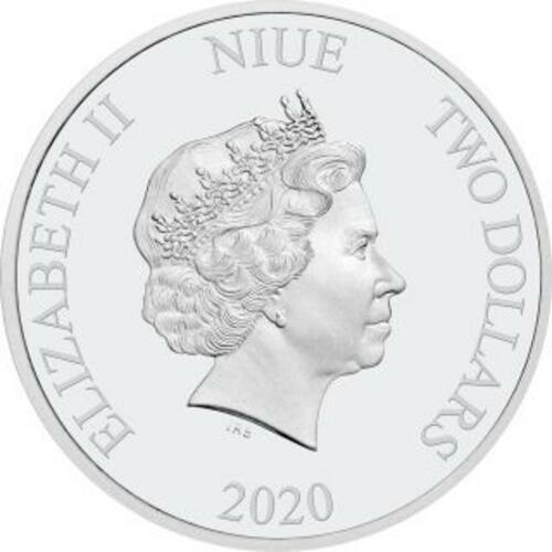 Rückseite:Niue : 2 Dollar Disney - Jahr der Maus   1 oz  2020 PP