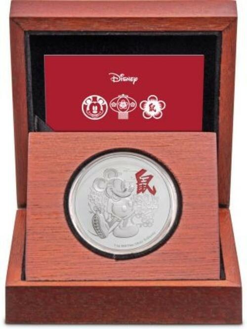 Lieferumfang:Niue : 2 Dollar Disney - Jahr der Maus   1 oz  2020 PP