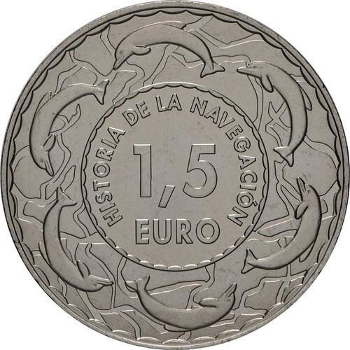Rückseite:Spanien : 1,5 Euro U-Boot Galerna #19  2019 Stgl.