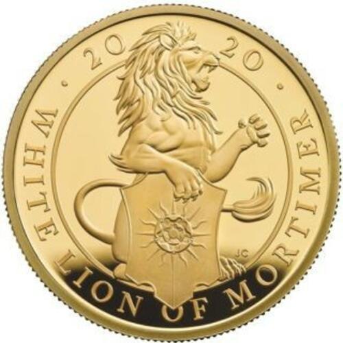 Rückseite:Großbritannien : 25 Pfund The Queen´s Beasts #7 - Weißer Löwe 1/4 oz  2020 PP