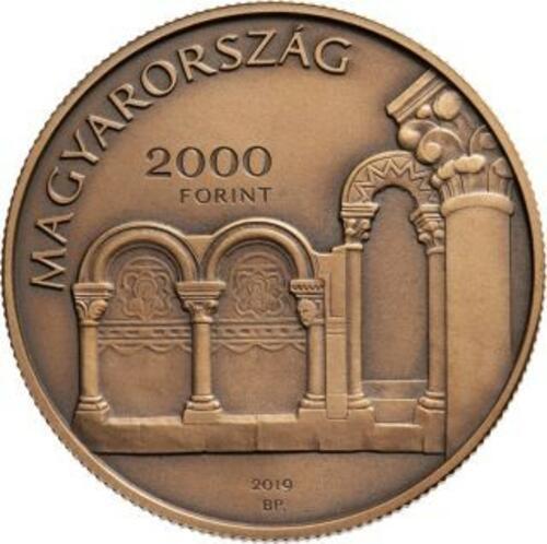 Vorderseite:Ungarn : 2000 Forint Nationaldenkmal - Esztergom/Hist. Stadt  2019 Stgl.