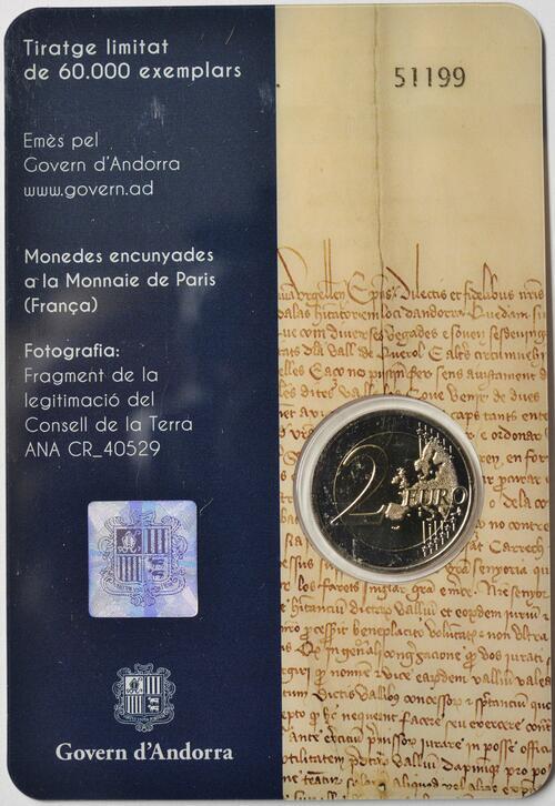 Zertifikat:Andorra : 2 Euro 600 Jahre Weltkonzil  2019 bfr
