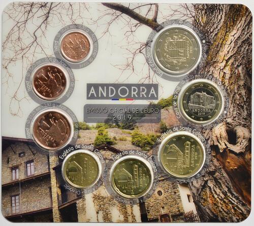 Vorderseite:Andorra : 3,88 Euro KMS Andorra  2019 Stgl.