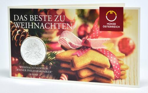 Lieferumfang:Österreich : 1,5 Euro Philharmoniker Weihnachtsblister  2019 Stgl.