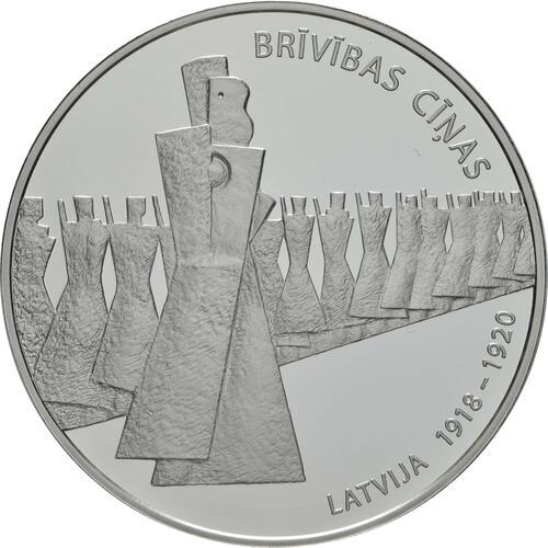Vorderseite:Lettland : 5 Euro Freiheitskämpfe 1918-1920  2019 PP