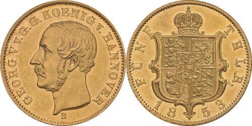 Lieferumfang:Deutschland : 5 Taler Georg V.  1853 vz.