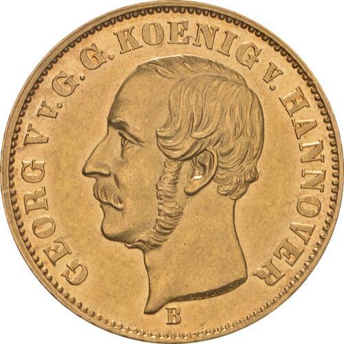 Vorderseite:Deutschland : 5 Taler Georg V.  1853 vz.