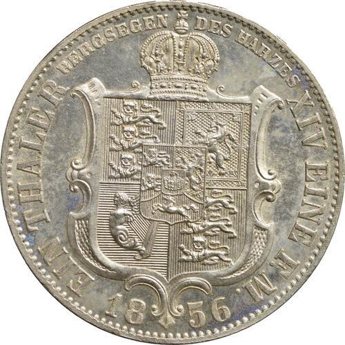 Rückseite:Deutschland : 1 Ausbeutetaler Georg V.  1856 Stgl.