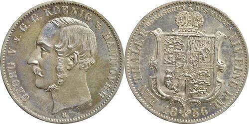 Lieferumfang:Deutschland : 1 Ausbeutetaler Georg V.  1856 Stgl.