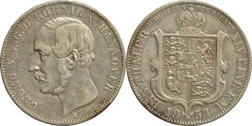 Lieferumfang:Deutschland : 1 Ausbeutetaler Georg V.  1854 ss.
