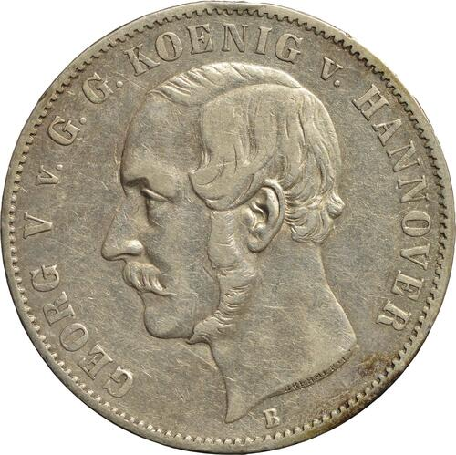 Vorderseite:Deutschland : 1 Ausbeutetaler Georg V.  1854 ss.