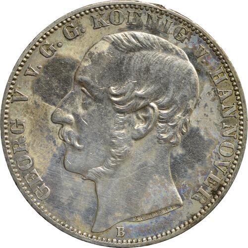 Vorderseite:Deutschland : 1 Vereinstaler Gerog V.  1864 ss/vz.