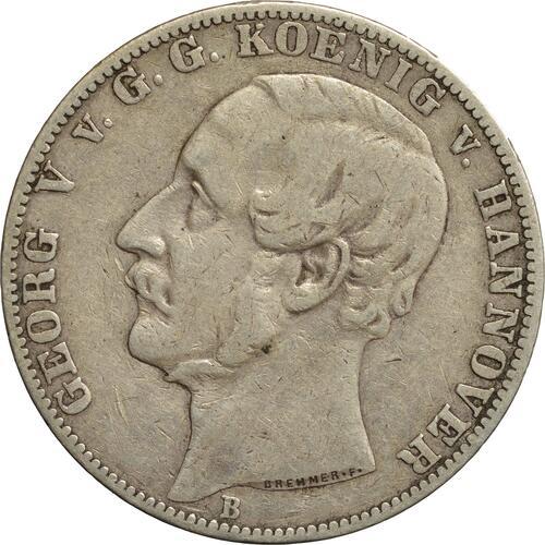 Vorderseite:Deutschland : 1 Vereinstaler Gerog V.  1859 ss.