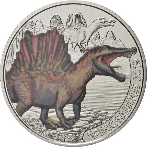 Vorderseite:Österreich : 3 Euro Spinosaurus Aegyptiacus #1  2019 Stgl.