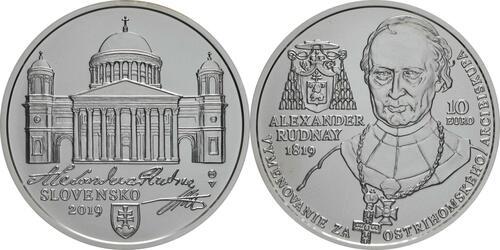 Lieferumfang:Slowakei : 10 Euro A. Rudnay/100 J. Ernennung zum Erzbischof  2019 Stgl.