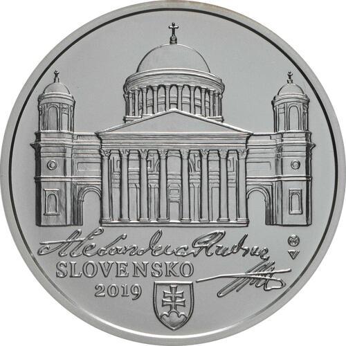Vorderseite:Slowakei : 10 Euro A. Rudnay/100 J. Ernennung zum Erzbischof  2019 Stgl.
