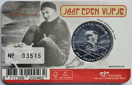 Zertifikat:Niederlande : 5 Euro Jaap Eden  2019 Stgl.