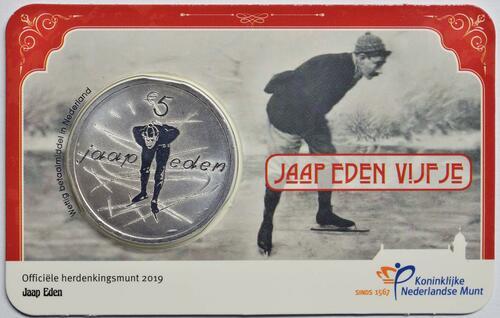 Lieferumfang:Niederlande : 5 Euro Jaap Eden  2019 bfr
